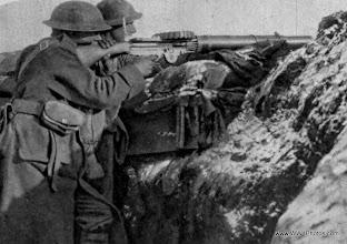 Photo: A Lewis Machine Gun On The Western Front