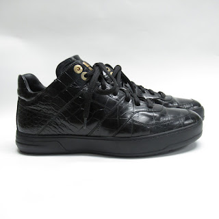 Salvatore Ferragamo Embossed Leather High Tops
