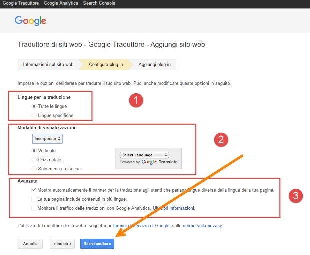 configurazione-traduttore