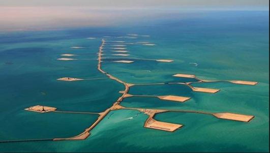 Aramco, yacimiento marino de petróleo