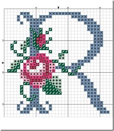 abc punto cruz letras con rosas  (17)