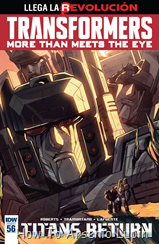 Actualización 22/09/2016: Transformers - More than Meets the Eye #56, traduce DarkScreamer, revisa Serika y maqueta Byjana.