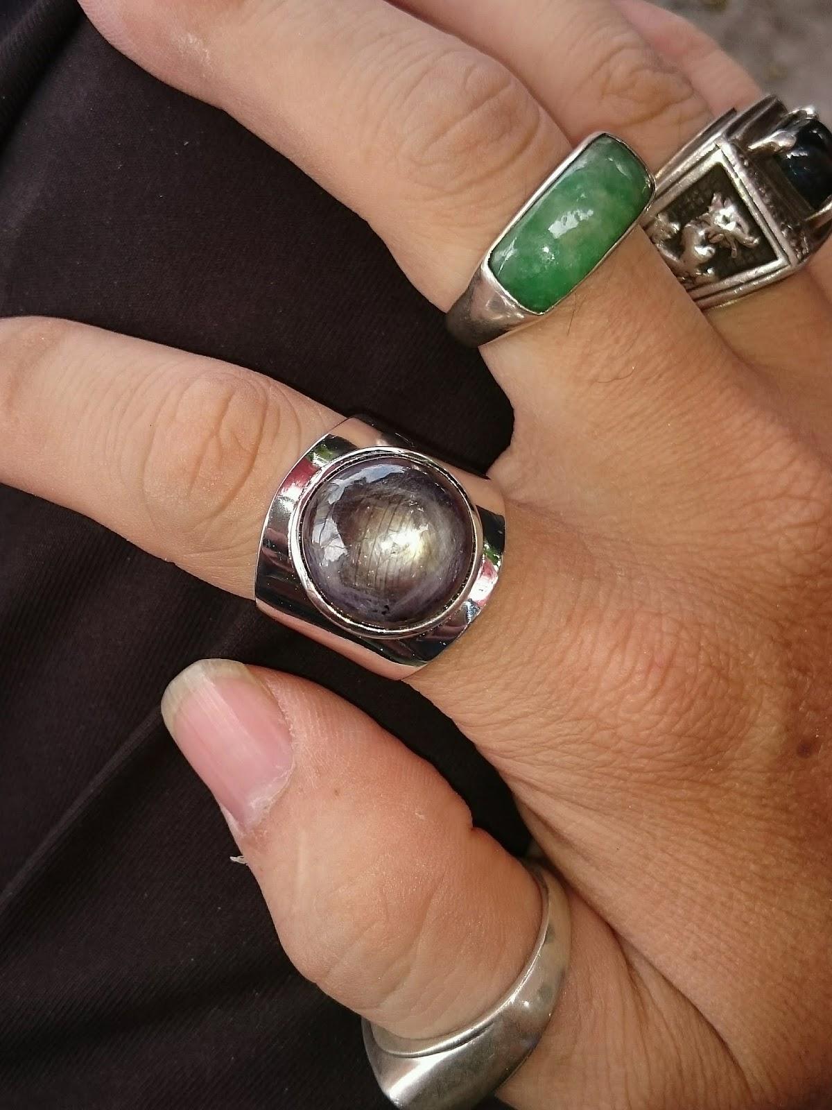 Nhẫn nam đá quý Sapphire sao