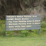 Signs at Kylies Beach camping ground