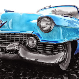 The Blue car by Ana Paula Filipe - Transportation Automobiles ( blue, car, old, automotive, transportation )