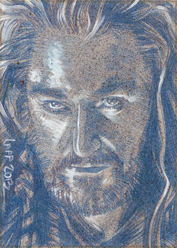 Richard Armitaged As Thorin Oakenshield(Pencil study) ACEO Sketch Card by Jeff Lafferty