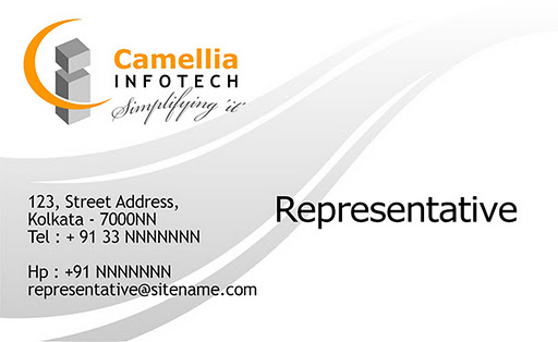 business card for Camellia Infotech