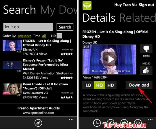 Tải ứng dụng xem tivi free - Youtube HD cho Windows phone + Hình 6