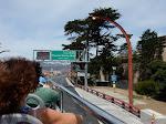 Driving towards the Golden Gate Bridge