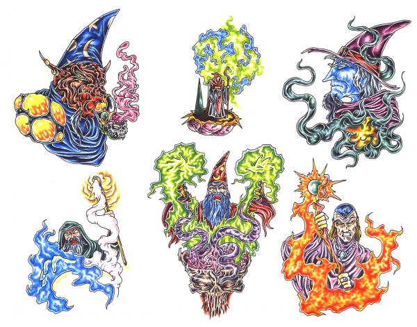 Design Of Magick Tattoo 5, Fantasy Tattoo Designs