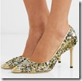 Jimmy Choo Sequinned Glitter Leather Evening Shoes