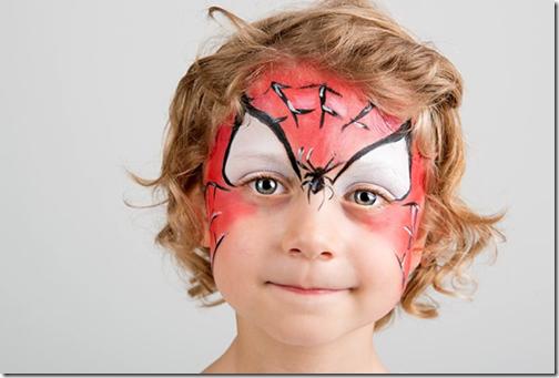 maquillaje de araña para niña