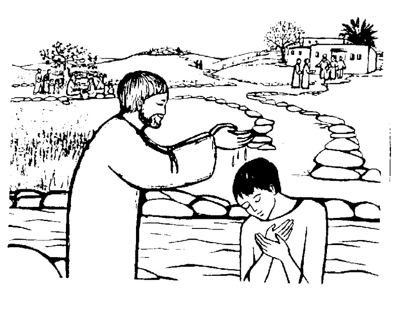 Imágenes de Juan el bautista para colorear