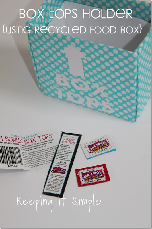 #ad Box-Tops-Holder-Using-Recycled-Food-Box #BTFE