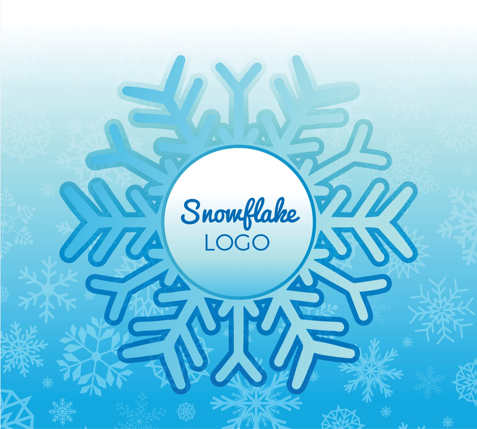 Winter Snowflake Logo Free Download Vector CDR, AI, EPS and PNG Formats