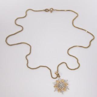 14K Snowflake Pendant Necklace