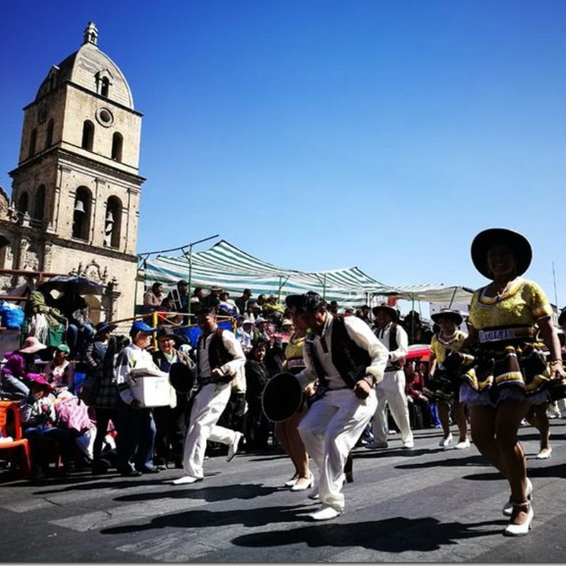 Cholitas: bailando salay en el Gran Poder 2018