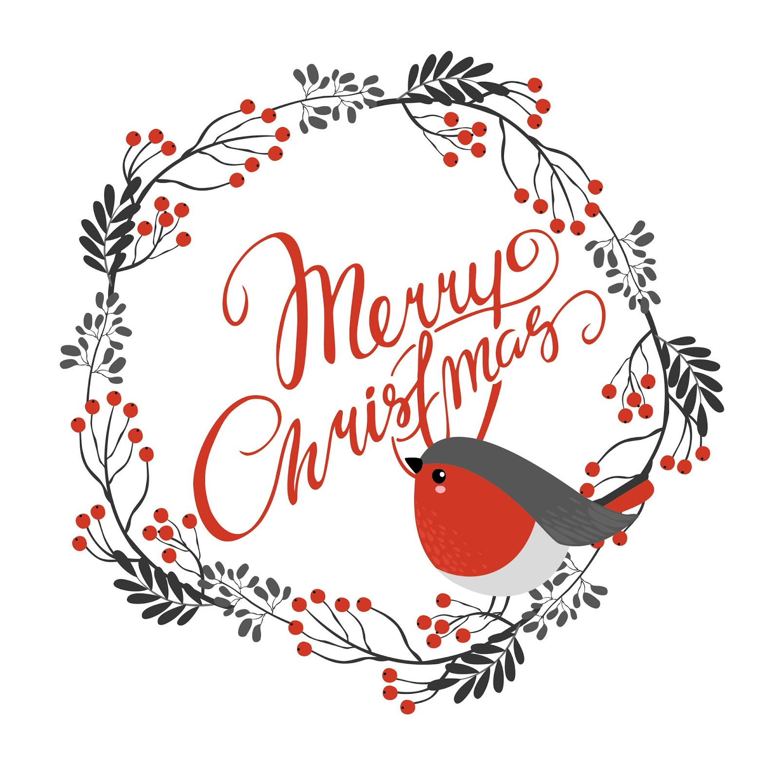 Merry Christmas Free Download Vector CDR, AI, EPS and PNG Formats