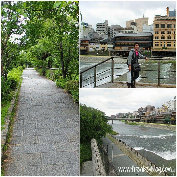 Suasana Kamo River di sekitar Gion Shijo Station