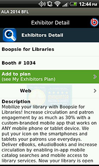 ALA Mid Winter 2014 App, Exhibitors Details