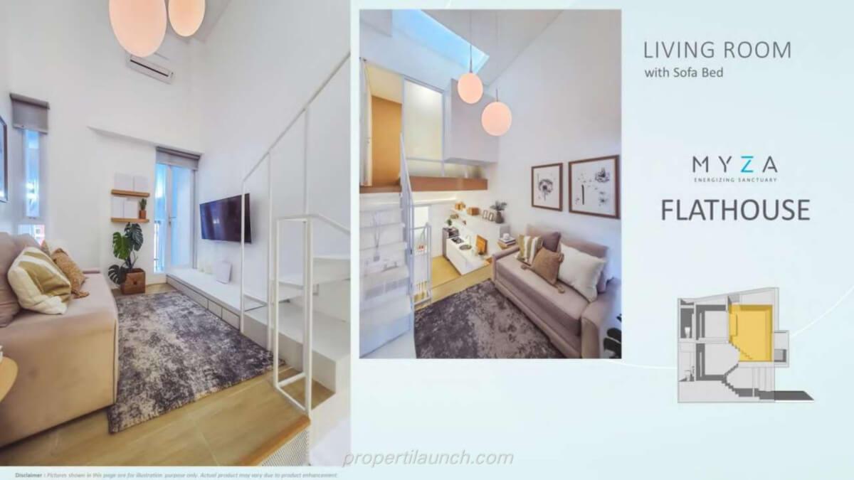 Rumah Myza BSD - Living Room