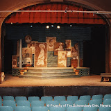 The set for LOOK HOMEWARD, ANGEL (R) - March 1994.  Property of The Schenectady Civic Players Theater Archive.