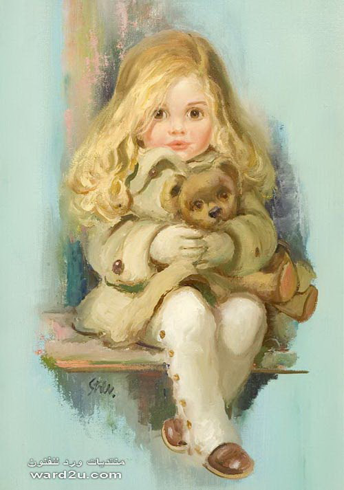 بورتريهات موديلات بملامح السندريلا للفنان John Frederic Lloyd Strevens