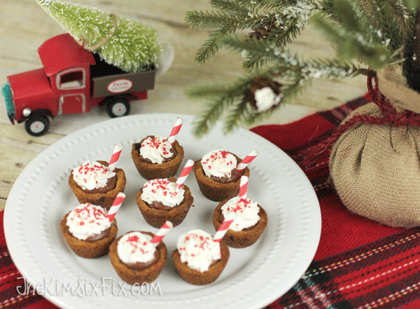 Chocolate Filled Cookie Cups Christmas