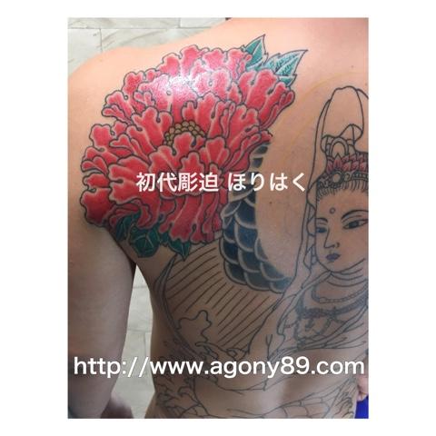刺青、刺青画像、刺青 牡丹、花 刺青、刺青デザイン 和彫り 花、タトゥー 花 画像、 タトゥー デザイン 牡丹 画像、魚藍観音、ぎょらんかんのん、和彫り、抜き彫り、化粧彫り、背中一面、牡丹の花、朱色、タトゥー、タトゥー画像、刺青デザイン、刺青デザイン画像、刺青デザイン画像集、タトゥーデザイン、タトゥーデザイン画像、タトゥーデザイン 画像集、tattoo、tattoo画像。