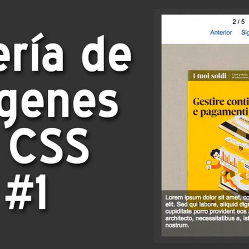 Crear una galería de imágenes con CSS y jQuery