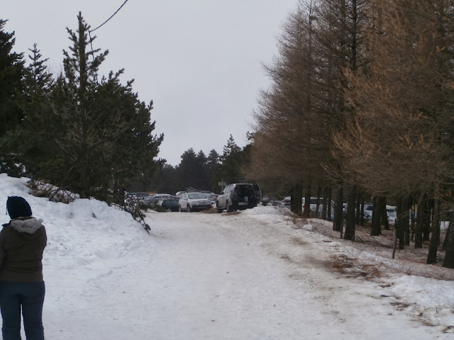 El parking de la estacion de ski de Eyne