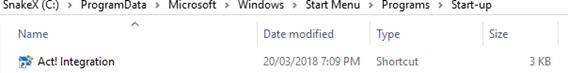 Startup All Programs Folder - All Users