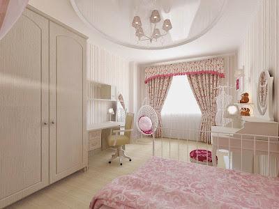 Дизайн интерьера комнаты в стиле Прованс для девочки-подростка, подробнее - http://www.pawelldesign.ru/Home/interior_3D