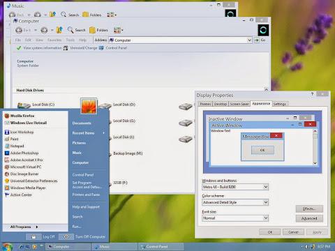 Metro UI Visual Style windows Xp