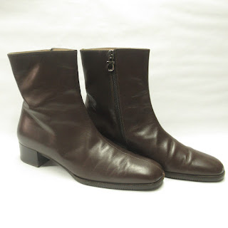 Salvatore Ferragamo Brown Leather Ankle Boots