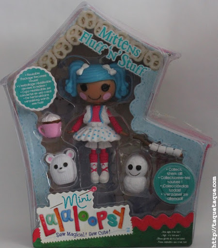 mini Lalaloopsy Mittens Fluff 'n' Stuff, en su caja