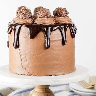 Nutella Chocolate Cake with Nutella Cream Cheese Frosting.