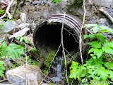 Water still penetrates the plugged penstock intake.