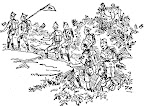 La Patrulla Scout, ilustración de Baden-Powell