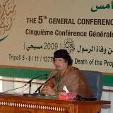 V Congreso General del Liderazgo Popular Islamico Mundial, WIPL (Tripoli- Libia, 2009-Nov-06-09)