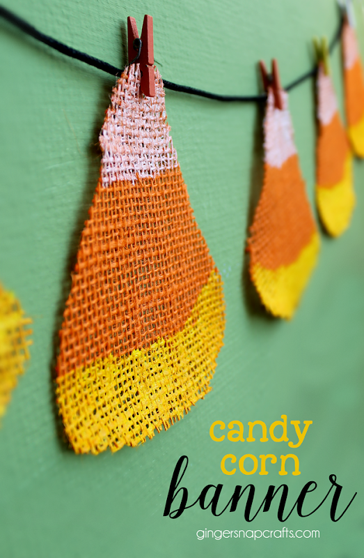 Candy Corn Banner at GingerSnapCrafts.com