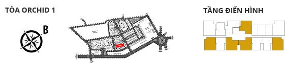 Vị trí các tòa tháp, các tầng có căn hộ 3 phòng ngủ DT: 123,56m2