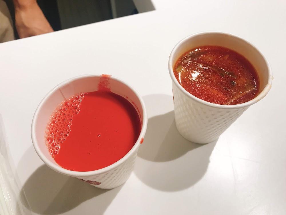 夏野菜 トマトのポタージュと鶏団子とごろごろ夏野菜トマトスープ