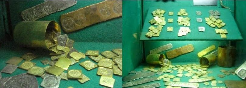 Diversos exemplares, incluindo ducados de prata, em exposição no Castelo de Brennand (Instituto Ricardo Brennand), em Recife, Pernambuco.