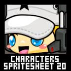 SWAT agent sniper rebel Character Spritesheet