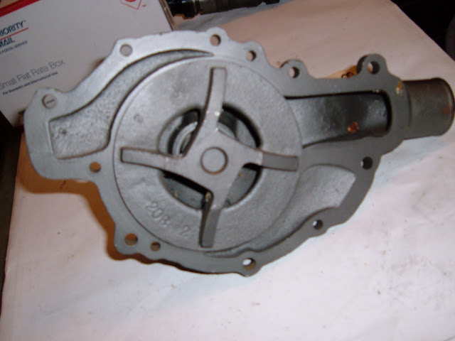 Bottom side of Chevy truck pump.