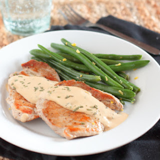 Pork with Rosemary and Creamy Dijon Sauce.