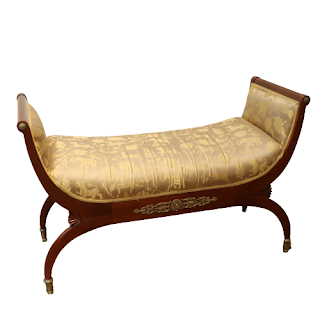 John Widdicomb Ornate Upholstered Bench