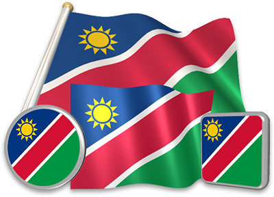 Namibian flag animated gif collection