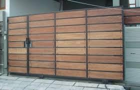 desain pagar kayu minimalis yang kami kerjakan